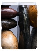 Stacked Stones 4 Duvet Cover by Steve Gadomski