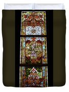 Stained Glass 3 Panel Vertical Composite 06 Duvet Cover by Thomas Woolworth