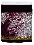 Stained Glass  Sakura Tree Duvet Cover by Lanjee Chee
