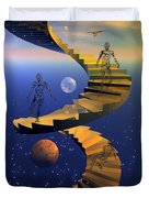 Stairway To Imagination Duvet Cover by Claude McCoy