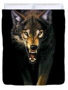 Stalking Wolf Duvet Cover by MGL Studio - Chris Hiett