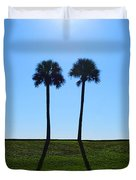 Stand By Me - Palm Tree Art By Sharon Cummings Duvet Cover by Sharon Cummings