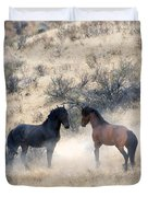 Stand-Off Duvet Cover by Mike  Dawson