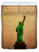 Stand Up For Freedom Duvet Cover by Bill Cannon