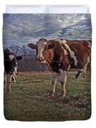 STAND YER GROUND Duvet Cover by Skip Willits