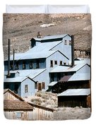 Standard Mill At Bodie Panorama Duvet Cover by Barbara Snyder