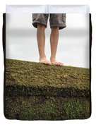 Standing On A Jetty Duvet Cover by Edward Fielding