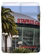 Staples Center in Los Angeles California Duvet Cover by Paul Velgos