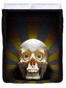 Staring Skull Duvet Cover by Carlos Caetano