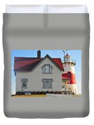 Startford Point Light Duvet Cover by Catherine Reusch  Daley