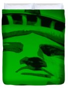 STATUE OF LIBERTY in GREEN Duvet Cover by ROB HANS