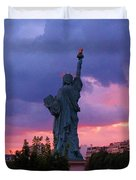 Statue Of Liberty In Paris Duvet Cover by John Malone