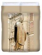 Statue Of Pope John Paul II Duvet Cover by Jess Kraft