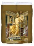 Statue Of Zeus At Oympia Duvet Cover by English School