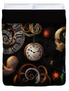 Steampunk - Abstract - The Beginning And End Duvet Cover by Mike Savad