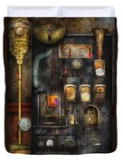 Steampunk - All that for a cup of coffee Duvet Cover by Mike Savad
