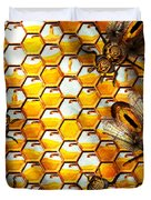 Steampunk - Apiary - The Hive Duvet Cover by Mike Savad