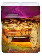 Steampunk - Blimp - Everlasting Wonder Duvet Cover by Mike Savad