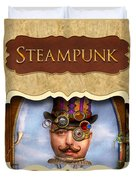 Steampunk Button Duvet Cover by Mike Savad