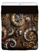 Steampunk - Clock - Time Machine Duvet Cover by Mike Savad
