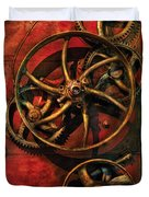 Steampunk - Clockwork Duvet Cover by Mike Savad