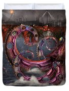 Steampunk - Enteroctopus magnificus roboticus Duvet Cover by Mike Savad