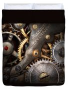 Steampunk - Gears - Horology Duvet Cover by Mike Savad