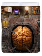 Steampunk - Information overload Duvet Cover by Mike Savad