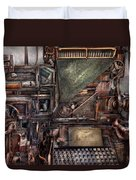 Steampunk - Machine - All The Bells And Whistles  Duvet Cover by Mike Savad
