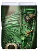 Steampunk - Naval - Plumbing - The Head Duvet Cover by Mike Savad