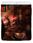 Steampunk - Photonic Experimentation Duvet Cover by Mike Savad
