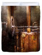 Steampunk - Powering the modern home Duvet Cover by Mike Savad