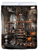 Steampunk - Room - Steampunk Studio Duvet Cover by Mike Savad