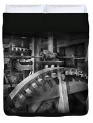 Steampunk - Runs Like Clockwork Duvet Cover by Mike Savad
