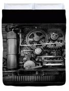 Steampunk - Serious Steel Duvet Cover by Mike Savad