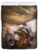 Steampunk - The Apprentice Duvet Cover by Mike Savad