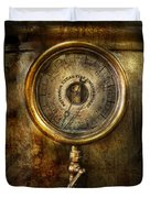 Steampunk - The Pressure Gauge Duvet Cover by Mike Savad