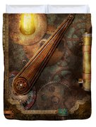 Steampunk - Victorian fuse box Duvet Cover by Mike Savad