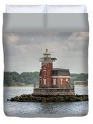 Stepping Stones Lighthouse I Duvet Cover by Clarence Holmes