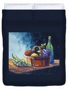 Still Life In Watercolours Duvet Cover by Karon Melillo DeVega