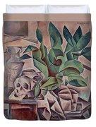 Still Life Showing Skull Duvet Cover by Kubista Bohumil