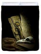 Still Life With A Bird Skull Duvet Cover by Jaroslaw Blaminsky