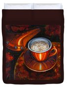 Still Life With Bicycle Saddle Duvet Cover by Mark Howard Jones
