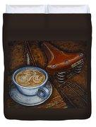 Still Life With Ladies Bike Duvet Cover by Mark Howard Jones