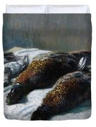Still Life With Pheasants And Plovers Duvet Cover by Claude Monet