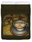 Still Life With Red Cruiser Bike Duvet Cover by Mark Howard Jones