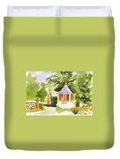 Stone Gazebo At The Maples Duvet Cover by Kip DeVore