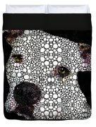 Stone Rock'd Dog By Sharon Cummings Duvet Cover by Sharon Cummings