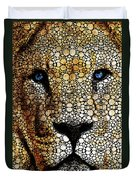 Stone Rock'd Lion 2 - Sharon Cummings Duvet Cover by Sharon Cummings