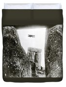 Stonehenge 1914 Duvet Cover by Science Source